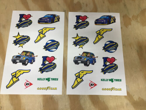 Lot Of 2 NEW GOODYEAR BLIMP RACING STICKERS ADVERTISIMENT