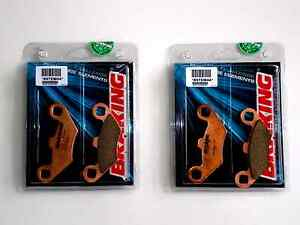 BRAKING-4-PASTILLAS-DE-FRENO-DELANTERO-SINTER-para-POLARIS-500-ATV-PRO-4x4-2002
