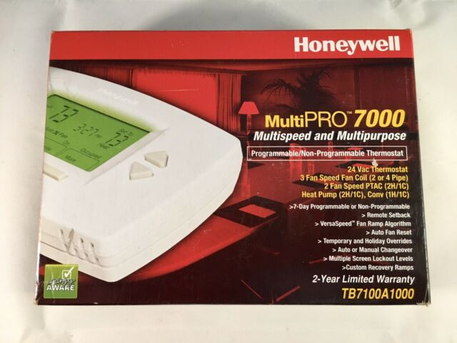 Honeywell Multipro 7000 Thermostat Tb7100a1000 For Sale Online Ebay