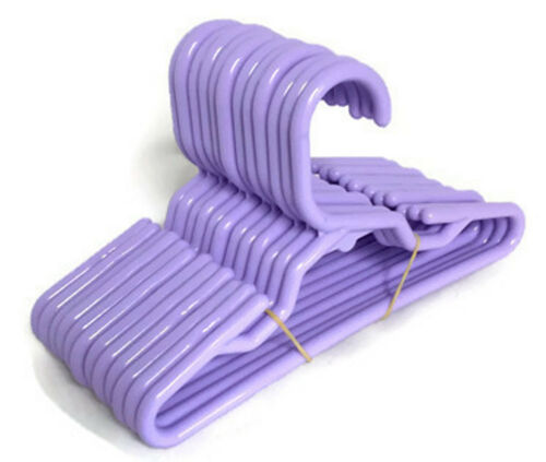 """1 Dz fits 14.5/"""" American Girl Wellie Wishers Doll Clothes 12 Lavender Hangers"""