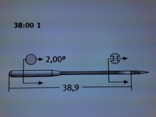 SCHMETZ TVX3 UY128 GAS CANU3800 NM90 SIZE14//036 INDUSTRIAL SEWING MACHINE NEEDLE