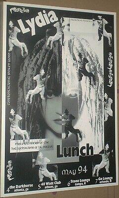 Lydia Lunch RARE Multi-Date 1994 CONCERT GIG POSTER Teenage Jesus Jerks/no-cd/lp