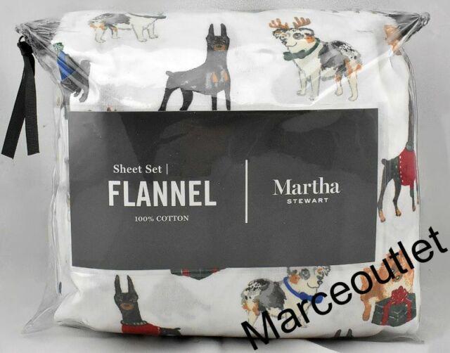 Martha Stewart Solid Red Flannel King Sheet Set For Sale Online Ebay