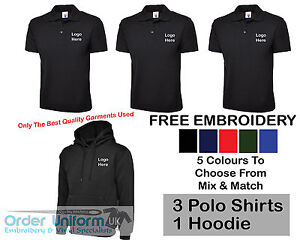 Personalised Embroidered Work Wear Package Printed T Shirt