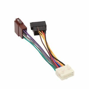 clarion 16 pin car stereo radio iso wiring harness connector adaptor rh ebay com