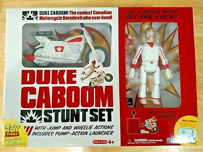Toy Story Signature Collection Duke Caboom Stunt Set with Jump /& Wheelie Action