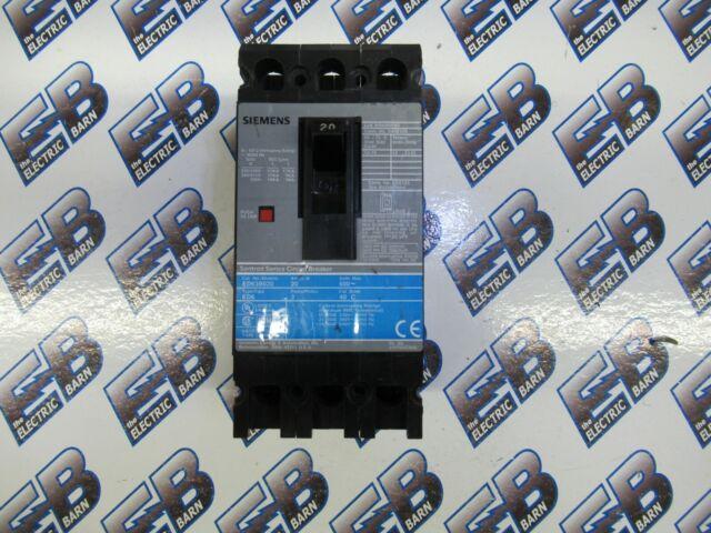 Siemens 20 Amp 3 Pole Circuit Breaker ED63B020