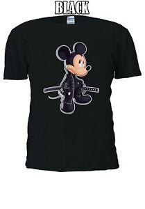 SAMURAI-Mickey-Mouse-personaggio-dei-cartoni-animati-Uomini-Donne-Unisex-T-shirt-2735