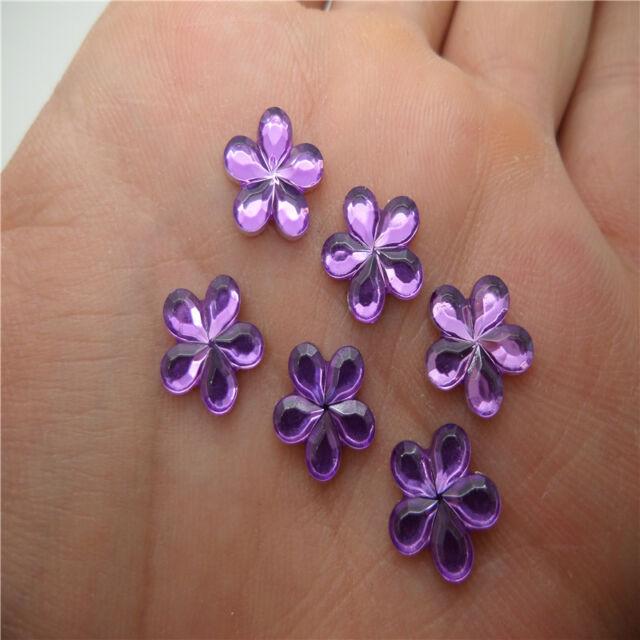 NEW DIY 50pcs Resin Flower shape Flat back Scrapbooking craft/Wedding decoration