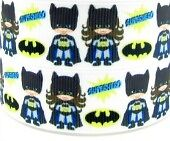 2 metres BATMAN AND BATGIRL Printed Grosgrain Ribbon 7/8 RNB