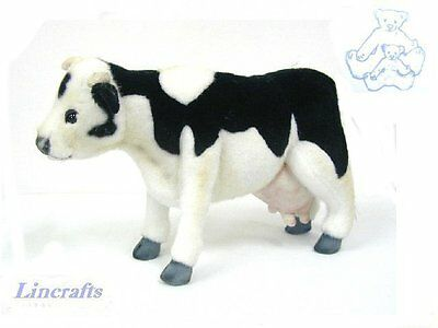 Black & White Cow Plush Soft Toy by Hansa from Lincrafts. 3463