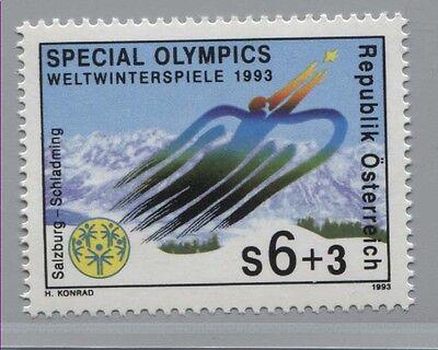 Schladming ** Punctual Timing Österreich 2091special Olympics Behinderte 1993 Salzburg Briefmarken