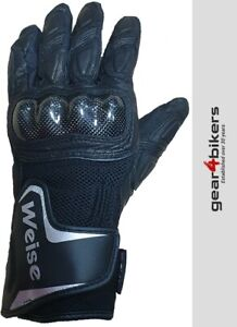 Weise Oslo Textile Mesh Leather Short Sport Summer Motorcycle Glove Gloves