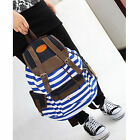 Unisex Fashion Canvas Backpack School Students Bag Cute Stripe College Laptop