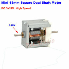 Dc 3v 5v 6v 9v High Speed Mini Micro Thin Square Motor Dual Shaft Toy Slot Car
