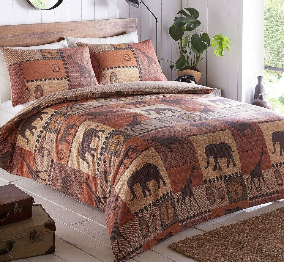 Kruger Stampa Africana, Set di Biancheria Biancheria Biancheria Da Letto Piumino Trapunta Set di copertura, in 2 Coloreeei fantastici. f4f0c7