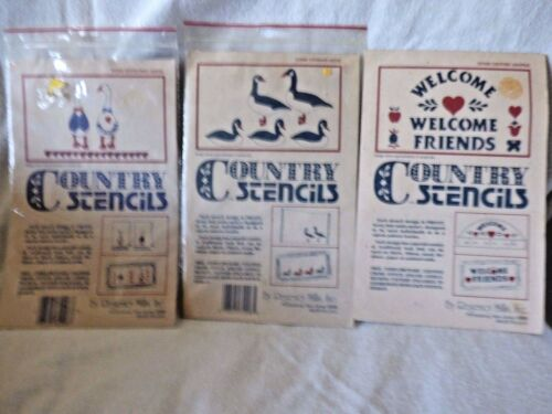COUNTRY STENCILS SET OF 3 SETS CANADIAN GEESEGOOSEWELCOME FRIENDS