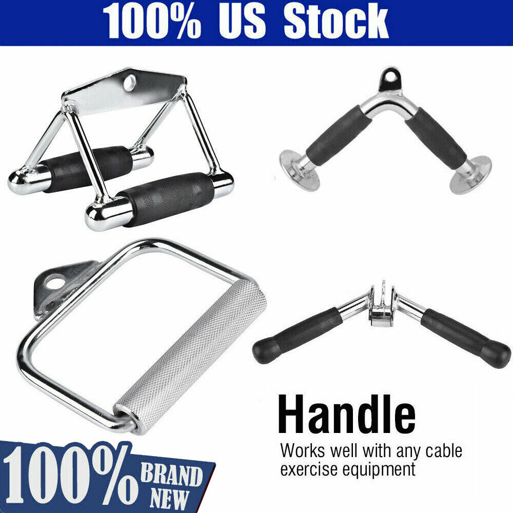 Tricep Rope Cable Handle Bar Home Fitness Gym Training Home Gym Attachments Tool