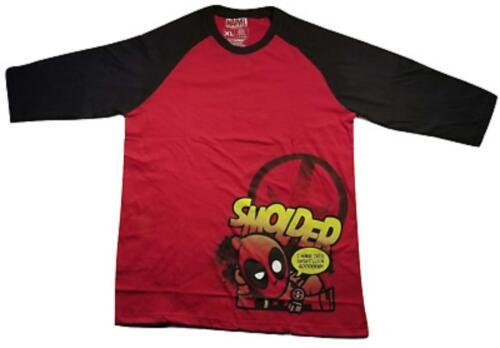 Loot Crate Exclusive Deadpool Smolder Red Men/'s Long Sleeve Shirt