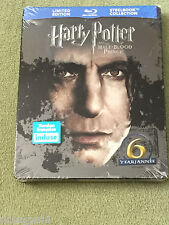 Free*Postage New Harry Potter and the half blood prince Blu Ray Steelbook OOP