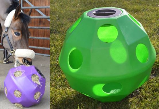 Green  Equine Horse or Pony Hay Ball 75mm Treat Feeder, MULTI-BUY DISCOUNT  fast shipping worldwide