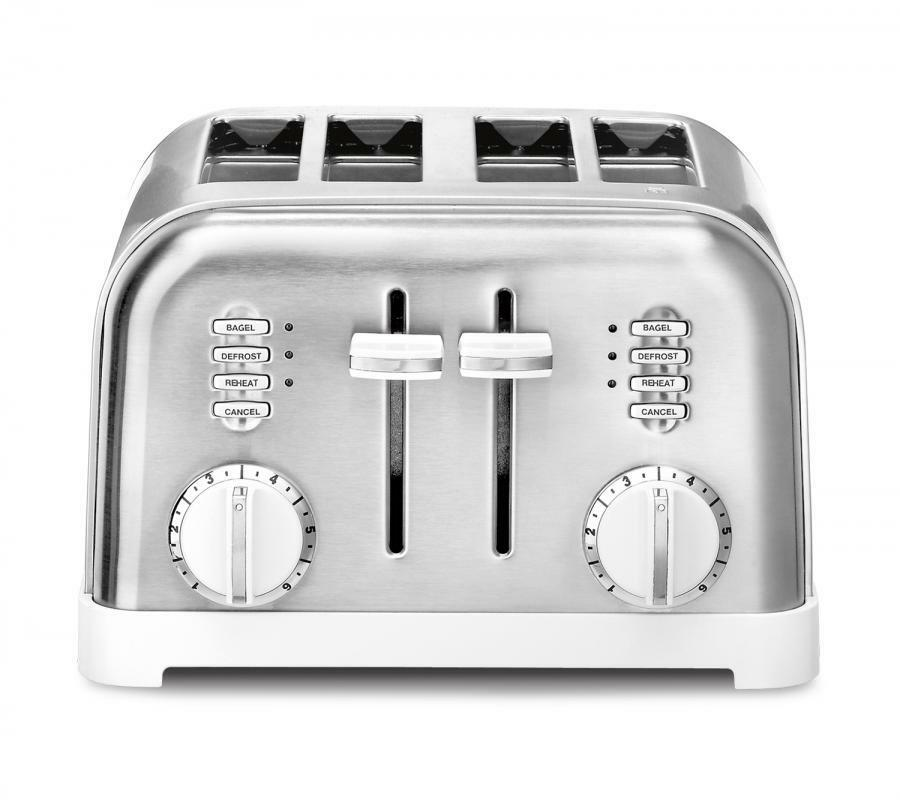 Cuisinart 4 Slice blanc and Stainless Classic Toaster