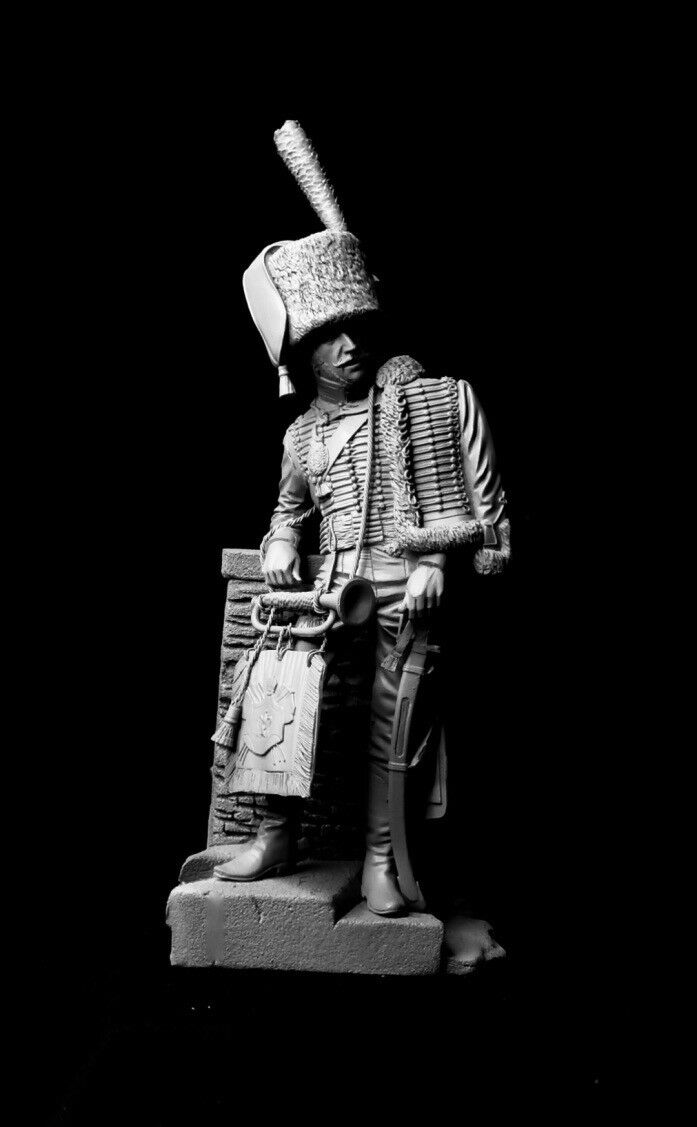 120mm 1 16 Chasseurs a Cheval Trumpeter, sculpted by Maurice Corry