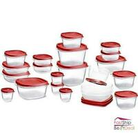 Rubbermaid Food Storage Container Set With Lid 42 Piece Microwave Freezer Safe