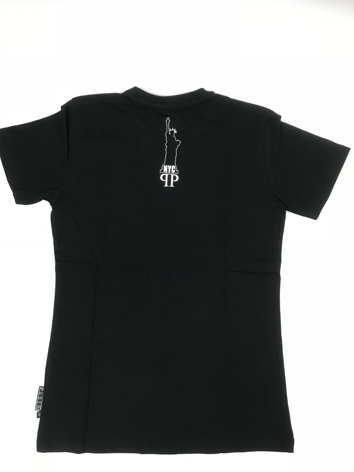 Philipp S PLEIN T-shirt grande girocollo TWINS NERO TG S Philipp 772083