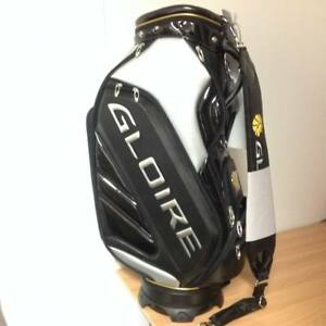 RARE-NEW-TaylorMade-034-JAPAN-034-Gloire-Staff-Cart-Bag-Black-Silver-and-Gold