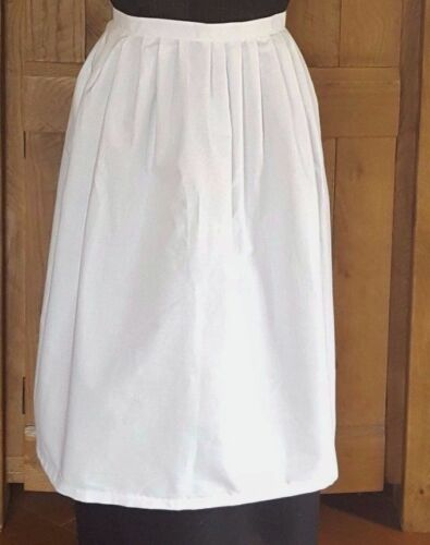 Adults White  Victorian Apron Fancy Dress Victorian Edwardian Tudor