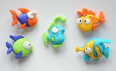 DRESS IT UP Buttons Something Fishy 6952 Fish Sea Tropical Nemo