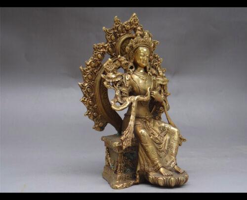 Tibetan buddhist Hinduism brass sculpture casting Maitreya Perfect collection