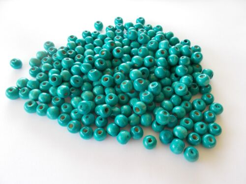 750pcs 8mm WOODEN Round Spacer Beads TURQUOISE BLUE A27