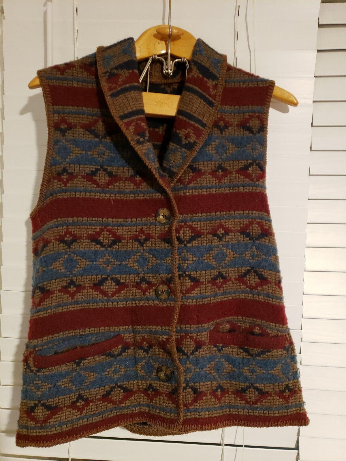 Vintage Woolrich John Rich Bros Southwestern wool… - image 2
