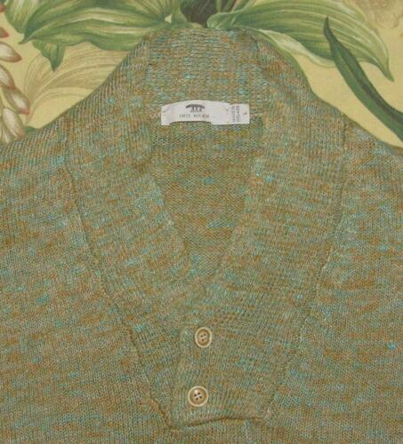 Mens INIS MEAIN Marled Brown Blue Linen Ireland Sw
