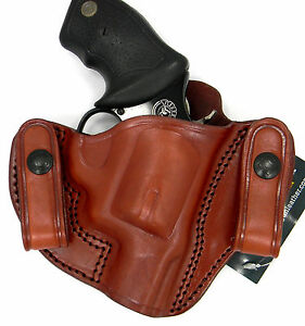 """S/&W L Frame 4/"""" Tagua DSH-942 Dual Snap Holster Brown Right Hand NEW!"""
