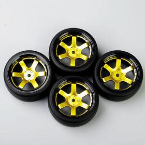 1//10 Rc Drift Car Wheels Tires Set For Tamiya tt01e tt02 tt02d Hpi Rs4 Sprint2