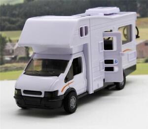White-Motorhome-Camper-Boys-Girls-Toy-Model-Car-Xmas-Birthday-Present-Boxed-New