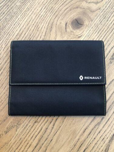 Genuine Renault Car Document Handbook Wallet Case Holder Black//Yellow