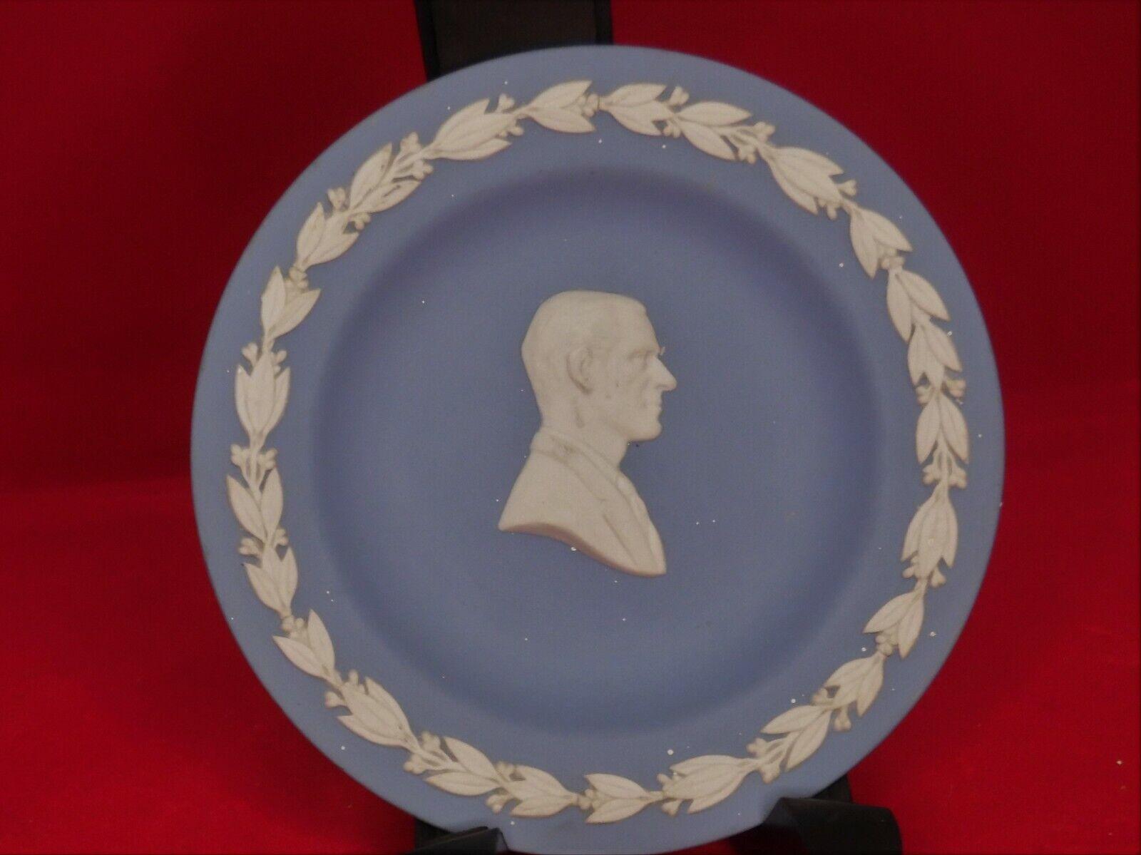 Image 2 - Wedgwood blue jasperware pin / trinket dish Duke of Edinburgh in cameo