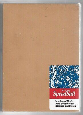 "SPEEDBALL ART 4377 SPEEDBALL S 12/"" X 12/"" UNMOUNTED SMOKEY TAN LINOL..."