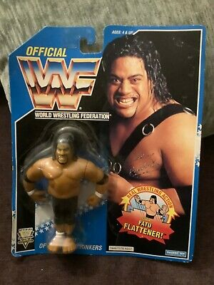 Hasbro Official WWF WWE SAMU Head Shrinkers 1994 figure Blue card Vintage NEW