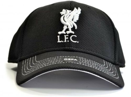 Liverpool Football Club Official Black White Mens Adult Cap Liverbird Badge Fan