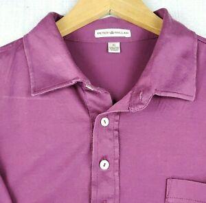 PETER-MILLAR-SIze-XL-Mens-Golf-Casual-Pocket-Polo-Shirt-Short-Sleeve-Soft-EUC
