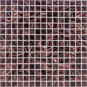 Glasmosaik Fliesen Kupfer Dunkelbraun Wand Boden Dusche 10 Matten