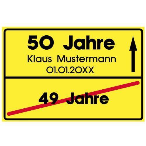 Ortsschild  stabil 20x30cm Party Event Geschenk  #R Schild Geburtstag