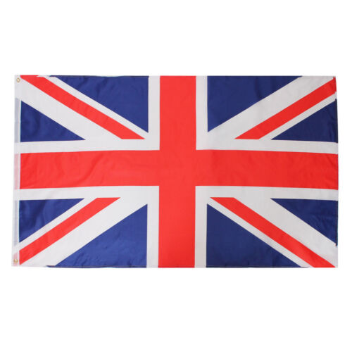 UNION JACK FLAG 5X3 FT NATIONAL SUPPORTERS GB SPORTS RUGBY FOOTBALL DECORATION