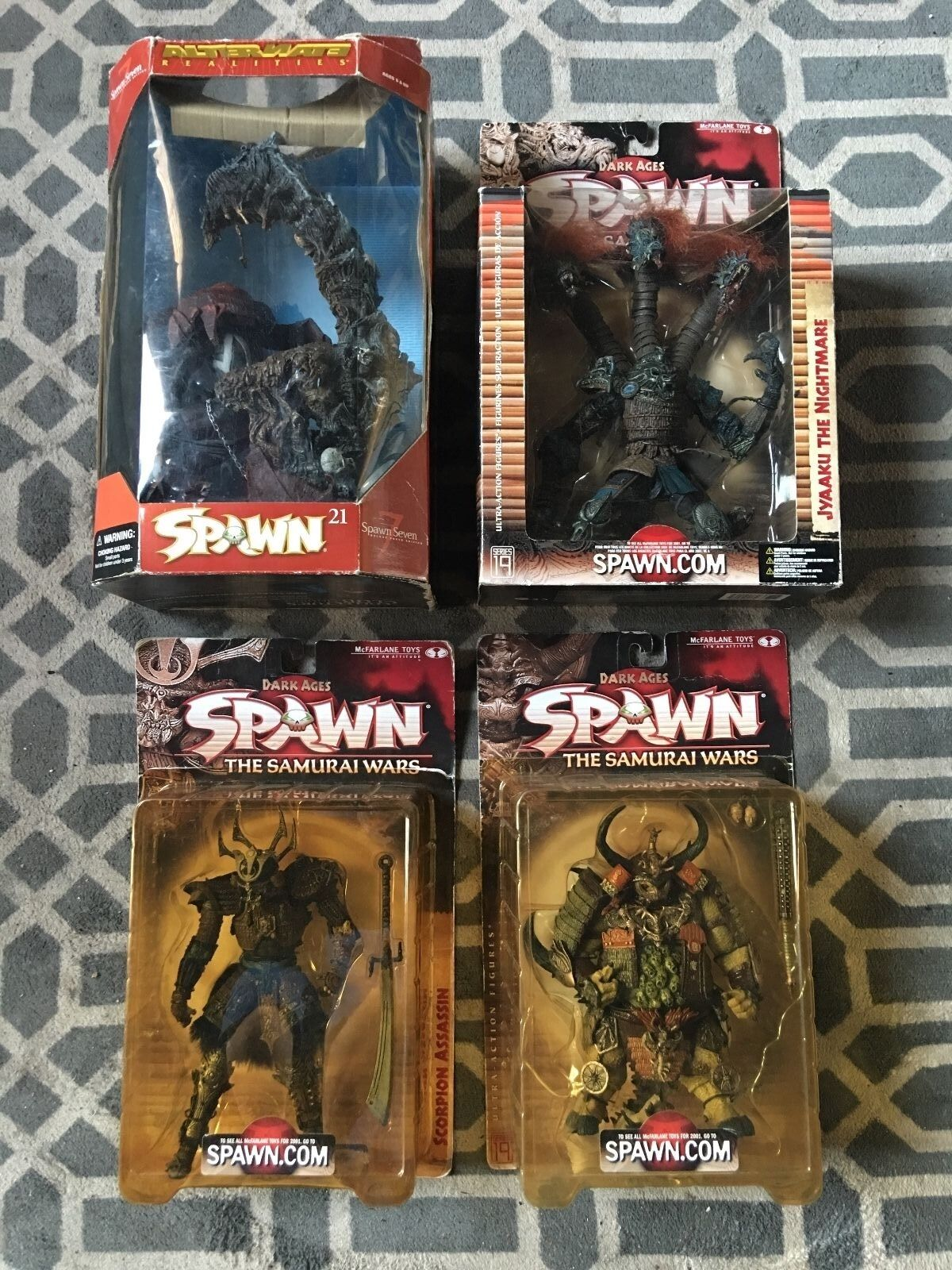 LOT OF 8 MCFARLANE SPAWN ACTION FIGURES, NEW