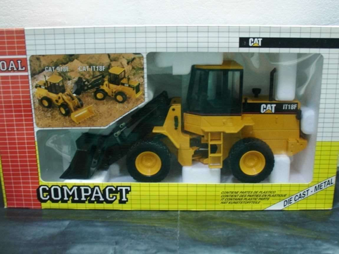 WOW EXTREMELY RARE  184 Caterpillar IT18F Wheel Loader Yellow 1 25 Joal